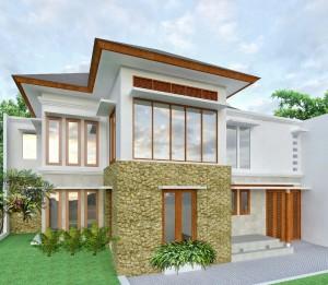 Jasa Arsitek Jakarta- Desain rumah 2 lantai elegan minimalis