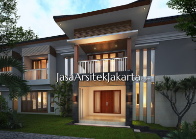 Design house with an area of 430 m2, pack Hoki Ambon