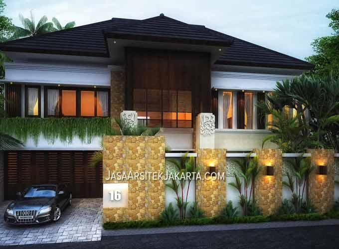 desain rumah luas 360m2 bu arinta surabaya