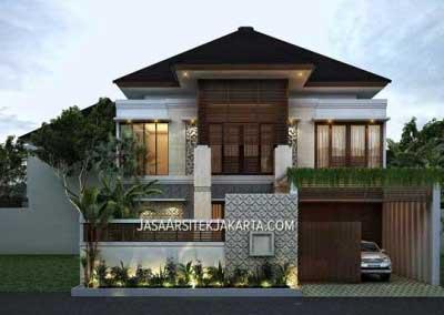 Desain Rumah Mewah luas 900m2 milik bu Hasan Jakarta