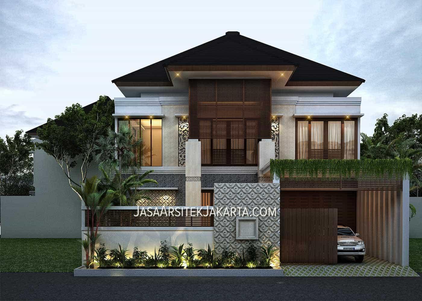Desain Rumah Mewah Luas 900m2 Milik Bu Hasan Jakarta Jasa Arsitek