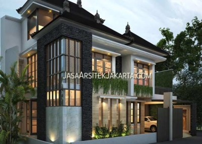 Design of 150 m2 wide house, Mr Wuri Jakarta