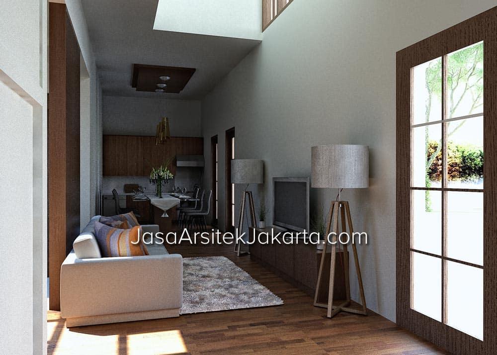 Desain GuestHouse 10 Kamar - Living area