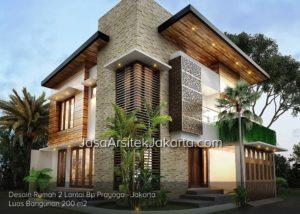 Jasa Arsitek Jakarta rumah 2 lantai luasan 200 meter