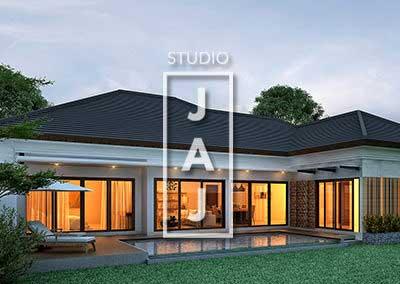 Desain Rumah 1 Lantai Luas 200m2 ibu Ana di Jakarta