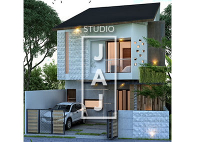 Design a 2-storey house with a 120m2 area for Mrs. Nicke in Jakarta