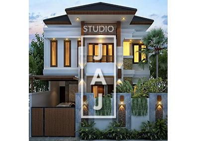 Desain Rumah 2.5 Lantai Luas Bangunan 200m2 Bp Hans di Jakarta