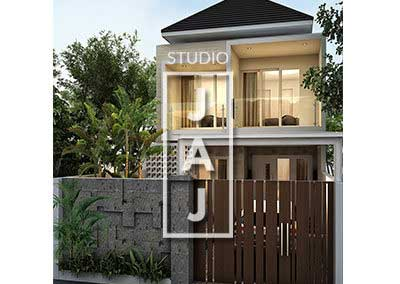 House Design 2 Floor Building Size 170m2 Balinese style Modern Bp Amri Jakarta