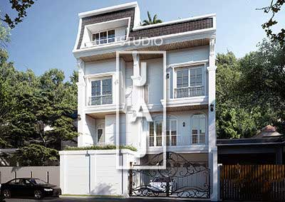 Design a Luxurious 4-storey Mediterranean-style house, Mr. Iwan in Jakarta