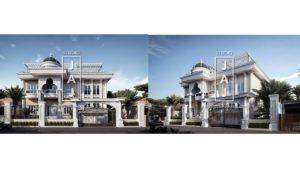 Desain Rumah Mewah Mediterania Klasik luas 775m2 Milik Ibu Reza Banjarmasin