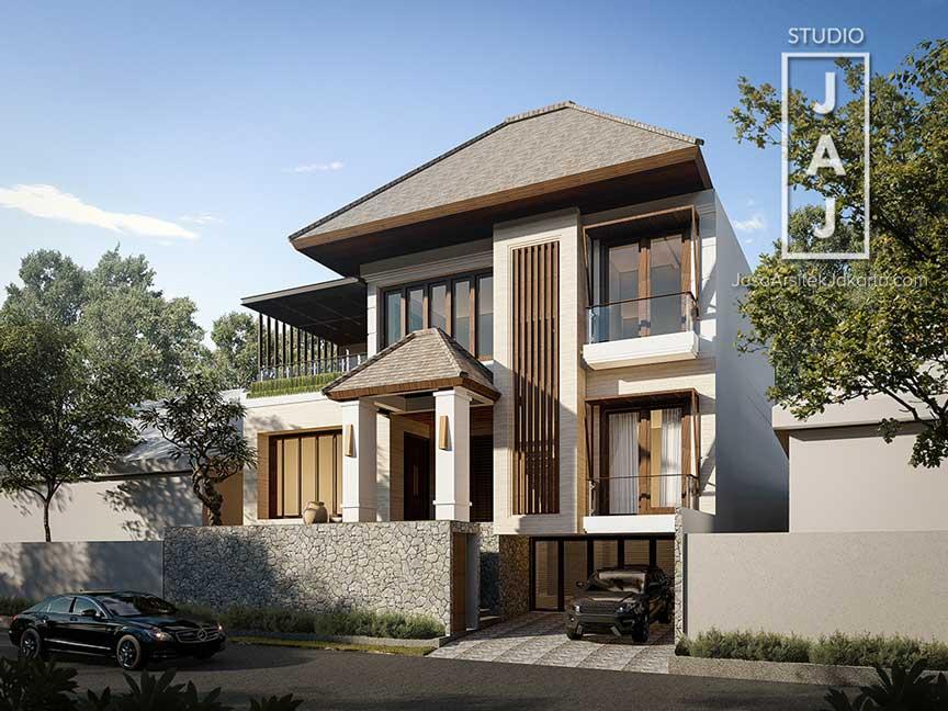 "Desain Rumah 3 Lantai 645 m2 Bali Modern ""The Kampono House #2"""