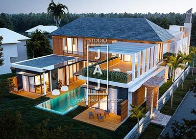 Design Private Villa + Mosque in Puncak, West Java