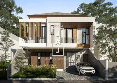 Rumah Minimalis Modern dengan Bukaan Maksimal 5 Kamar Tidur  milik Bp. Irwan
