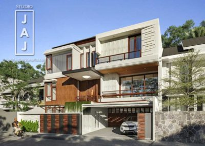 Modern Balinese style 3 storey house on 300 m2 land owned by Mr. Sandy